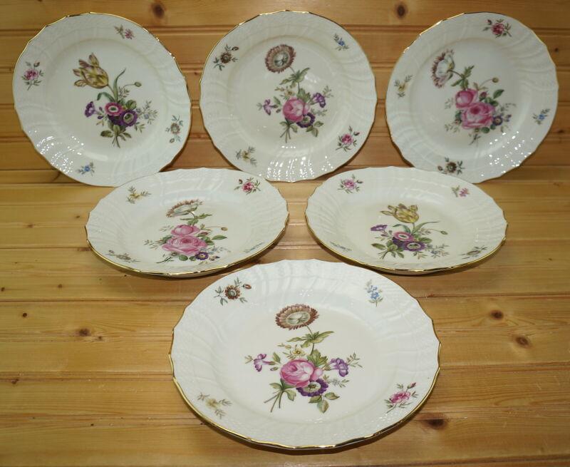 "Royal Copenhagen Frijsenborg (6) Salad Plates, 7 7/8"""