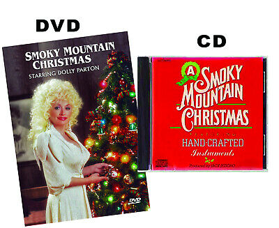 A SMOKY MOUNTAIN CHRISTMAS DOLLY PARTON DVD and CD - 2 Discs Set