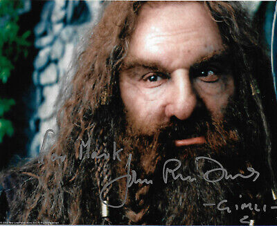 Original Signed 10x8 - Lord of the Rings - John Rhys-Davies Gimli personalised