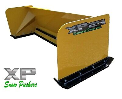 6 Xp24 Cat Yellow Snow Pusher - Skid Steer Loader - Local Pickup