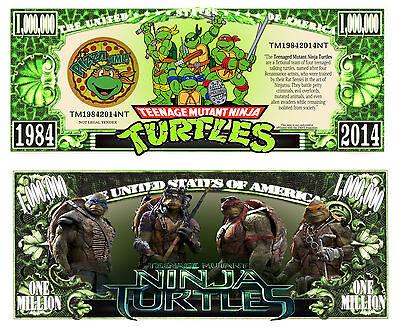 TORTUES NINJA BILLET MILLION DOLLAR US! Collection Super Heros Film Dessin Animé