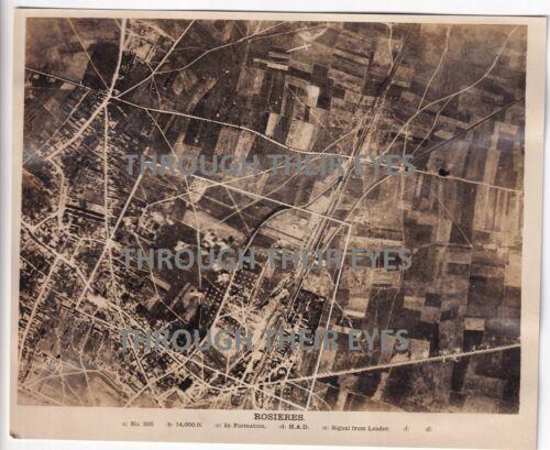 Original WW1 Aerial photo Bombing Rosieres 1918 103 squadron