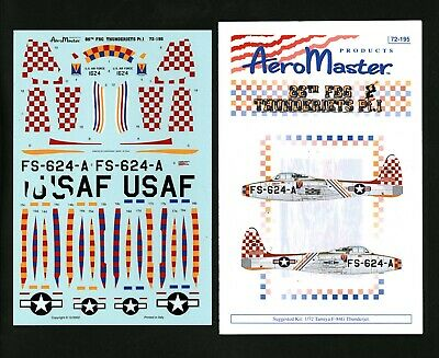 Aeromaster 72195 F-84 Thunderjets 86th FBG Pt. 1 1/72 Decals