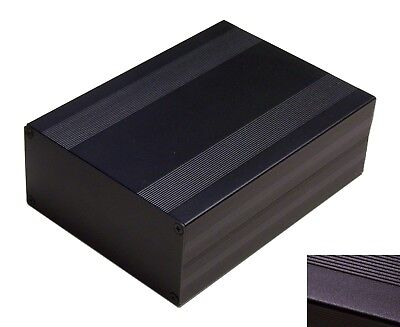 Black Aluminum Project Box Enclosure Case Electronic Diy 203x144x68mmbig