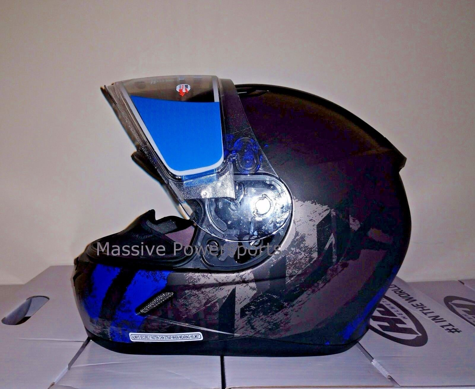 HJC CL-17 CL-17SN Arica Snowmobile Helmet Blue XS Extra Small Snell M2015