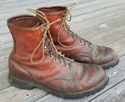 Vintage USA RED WING Boots Leather IRISH SETTER Work Hunting Boots 12 EE