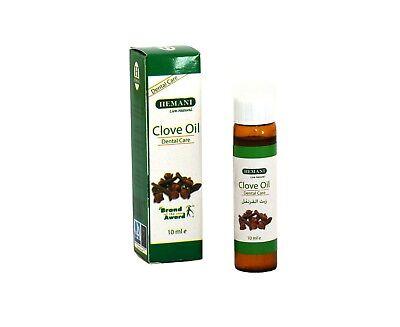 HEMANI Nelkenöl 10ml 100% Nelkenblätteröl ätherisches Nelken Öl schmerzlindernd