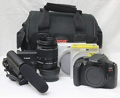 Canon Rebel T6 Digital SLR Camera Bundle - Excellent