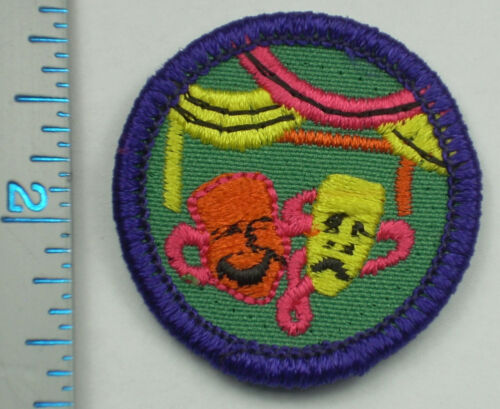 Vintage Girl Scout Badge - Theater - 1980-2001 - retired
