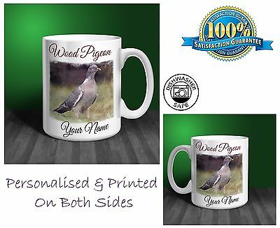 Wood Pigeon Personalised Ceramic Mug: Perfect Gift. (P075)