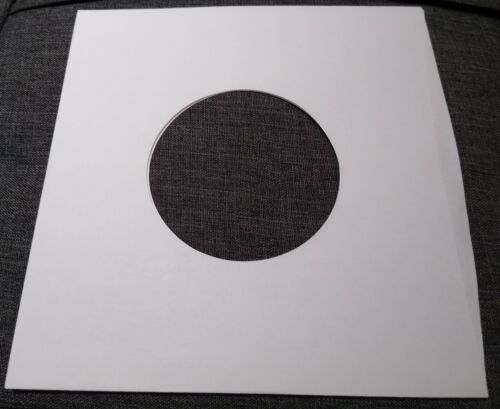 """Package of 100, 45 rpm 7"""" Record Sleeves 20# White Paper.  100% acid-free."""