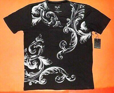 Versace 19V69 Italia V 1969 T Shirt Men Medium sz M Black Silver 19 69 Tee