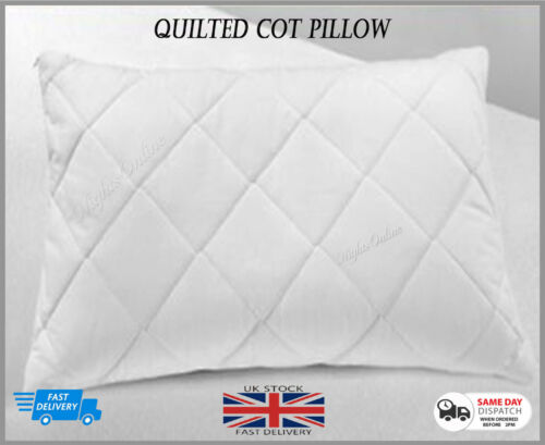 Anti-Allergy Quilted Cot Pillow Baby Comfort Nursery Junior Bed Toddler Bedding