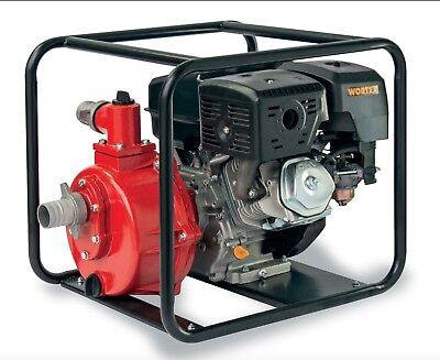 Power Pump 4T A Petrol Self-Priming Portable Aluminium WORTEX LWP55 14 HP Loncin