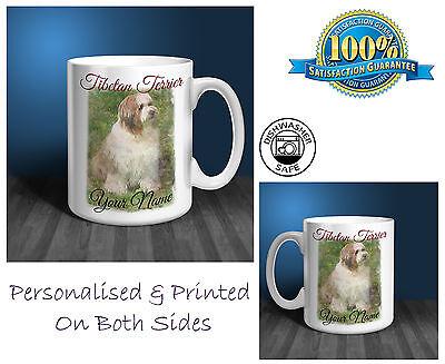 Tibetan Terrier Personalised Ceramic Mug: Perfect Gift. (D127)