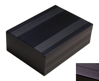 Diy Black Aluminum Project Box Enclosure Case Electronic Large Big