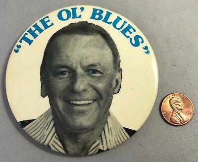 1970s FRANK SINATRA Ol' BLUE EYES Large 3 1/2-inch Pin Vintage