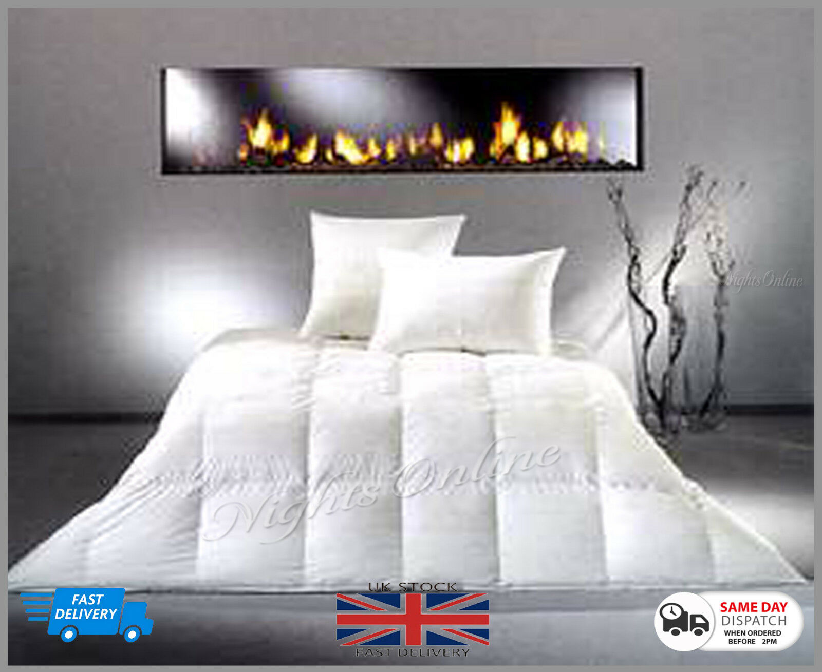 Clearance Sale Feather & Down Duvet Quilt  Extra Warm 13.5 T