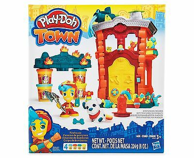 Hasbro Play-Doh Town Firehouse Modeling Clay Compound Playset