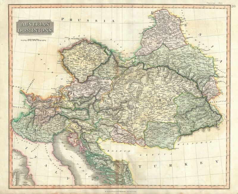 1817 Thomson Map of the Austrian Empire
