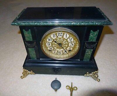 Seth Thomas Antique Adamantine Mantel Clock Runs Great
