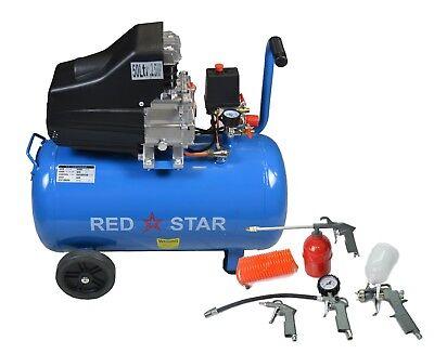 50L Ltr Litre Air Compressor 4 CFM 2.5HP 8 Bar Portable 2800rpm + 5pc Air Kit