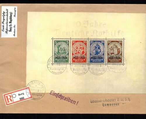 GERMANY 1933 SCOTT#B58. FORGERY COVER EMERGENCY AID OVPT. ORIGINAL CATS $8,000++