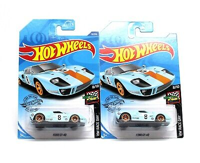 Hot Wheels Ford GT-40 Gulf Die Cast 1/64 Scale (Lot of 2)