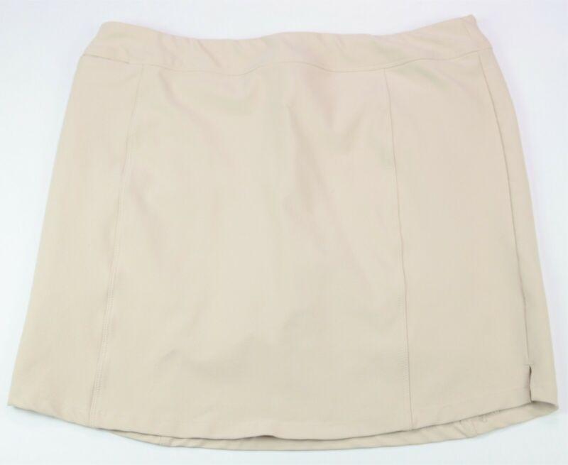 Adidas Golf Skort Large Khaki Tan Pockets