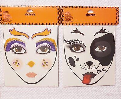Claires dog bird Face Art Sticker Temp Tattoo-Halloween!! NEW](Claire's Halloween Face Tattoos)