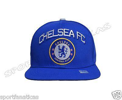 Chelsea Fc Snapback Adjustable Cap Hat soccer - blue - white - new - Soccer Hats