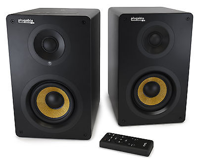 Plugable Performance Bookshelf Speakers with Bluetooth - 55W, 2-Channel