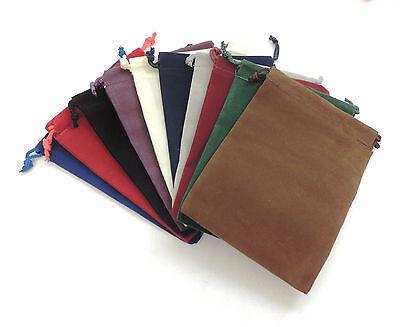 NEW 10 Piece 4 x 5.5 Velveteen Cloth Dice Bag Set – Dice Pouch - 10 Colors