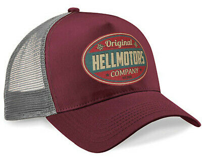 Trucker Cap Hellmotors V8 Oldschool Hot Rod Baseball Kappe Biker Snapback Mütze Hot Snap