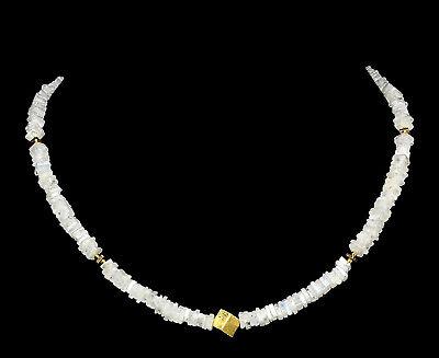 REGENBOGEN-MONDSTEIN Kette / MOONSTONE Necklace V440 gebraucht kaufen  Ering