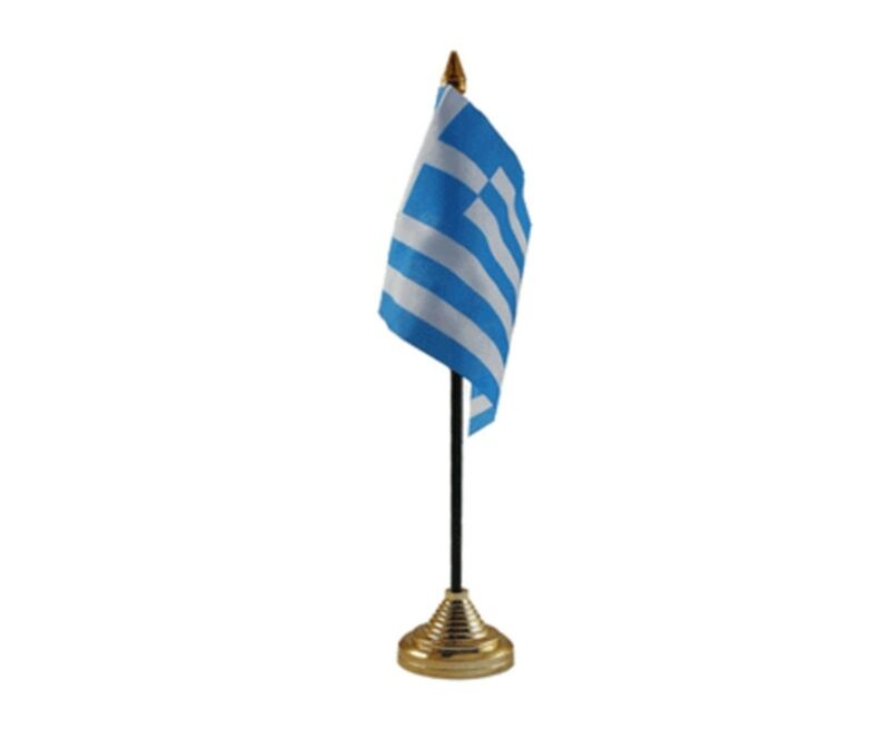"GREECE DESKTOP TABLE FLAG 6""X4"" 15cm x 10cm flags GREEK"