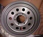 16 Trailer Stock Utility 6 Lug Silver Mod Wheel Wheels Rims 6x5.5