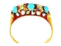 STUNNING 18CT RETRO STYLE MEN'S TURQUOISE & DIAMOND RING FULLY HALLMARKED MADE ENG REAL WORK OF ART
