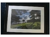 Framed photograph of Hazelbank Park Newtownabbey