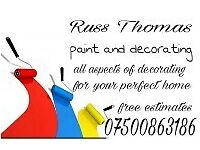 R thomas..paint and decorate sevices