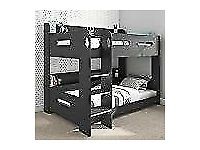 Bunk Bed in Dark GreyBrand New Boxed Ladder Can Be Fitted Either Side!
