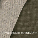 Imported 100% FLAX linen olive/ cream reversable on sale by the yard