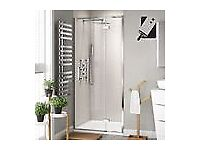 New Hinged Shower Door 800mm - 8mm - Premium EasyClean