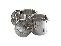 Prochef Multi Cooker Cookware Set, 3-Piece, Silver. Excellent Large Stainless Steel Pot (20 pint )