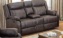 New. Reclining Love Seat with Console Regular $1299 Now just $850 Taxes included.  Only 4 Available.