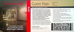 Two Air canada maple leaf lounge passes - $35 each