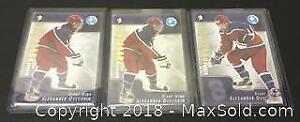 Lot of 3 Player Cards Alex Ovechkin Top Prospects, Rookie Cards.