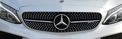 Mercedes-Benz Brand OEM W205 C Class 2015+ AMG Diamond Look Front Grille NEW