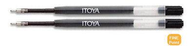 Itoya - 2 Pack Fine Point Ballpoint Pen Black