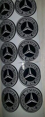 AMG Mercedes Benz Wasserdicht 10X Aufkleber Sticker Logo Emblem 30mm (3cm) Rund.